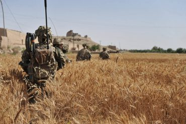 Fusiliers engaged in operational duties